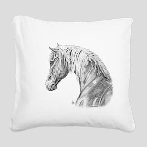 morgan horse Square Canvas Pillow