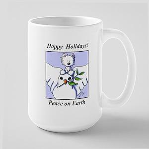 Westie Dove Holiday Large Mug