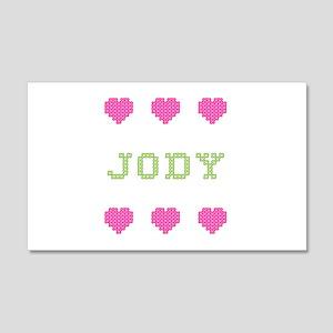 Jody Cross Stitch 20x12 Wall Peel
