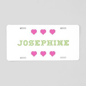 Josephine Cross Stitch Aluminum License Plate