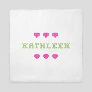 Kathleen Cross Stitch Queen Duvet