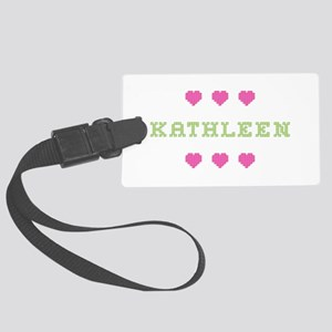 Kathleen Cross Stitch Large Luggage Tag
