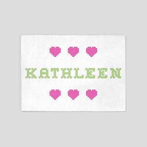 Kathleen Cross Stitch 5'x7' Area Rug