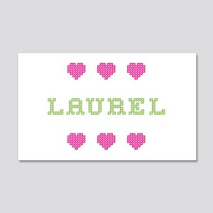 Laurel Cross Stitch 20x12 Wall Peel
