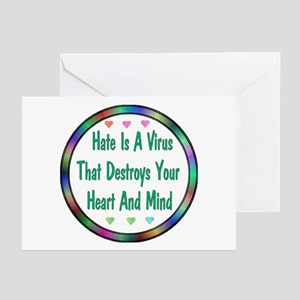 Hate Is A Virus Greeting Cards (Pk of 10)