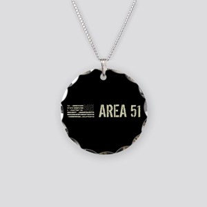 Black Flag: Area 51 Necklace Circle Charm