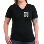 Bourdasse Women's V-Neck Dark T-Shirt