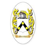 Boundey Sticker (Oval 50 pk)