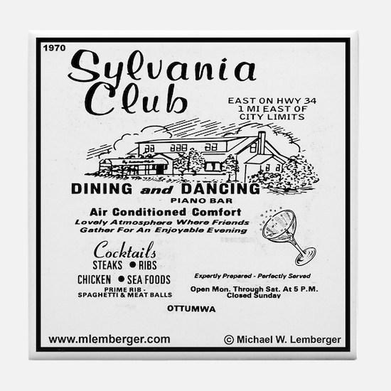 Sylvania Club Tile Coaster