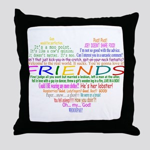 FriendsTVQuotesHeart Throw Pillow