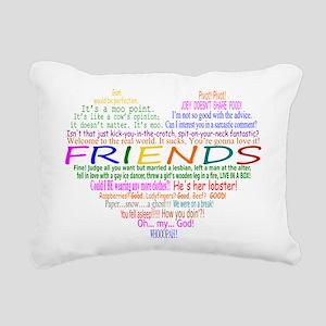 FriendsTVQuotesHeart Rectangular Canvas Pillow