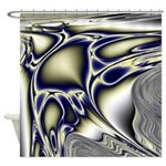 Blue and Silver Sting Ray Shower Curtain