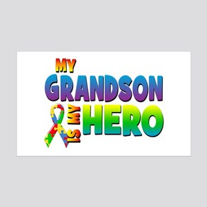 My Grandson Is My Hero Wall Decal