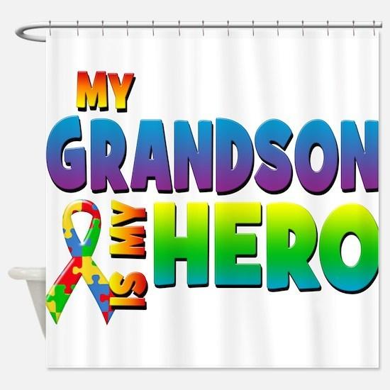 My Grandson Is My Hero Shower Curtain