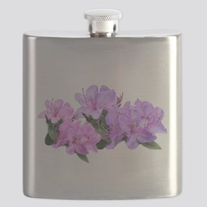 Purple azalea flowers Flask