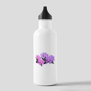 Purple azalea flowers Water Bottle