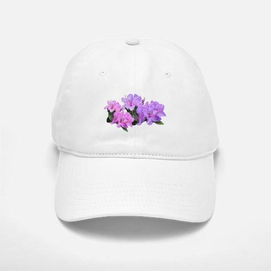 Purple azalea flowers Baseball Baseball Baseball Cap