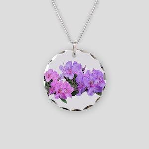 Purple azalea flowers Necklace