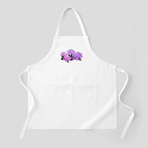 Purple azalea flowers Apron