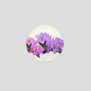 Purple azalea flowers Mini Button
