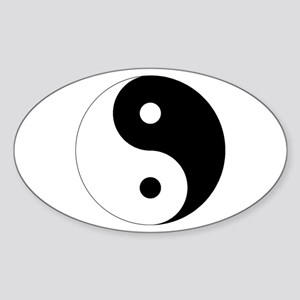 Tai Chi Yin Yang Sticker (Oval)