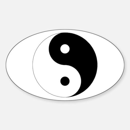 Tai Chi Yin Yang Sticker (Oval)