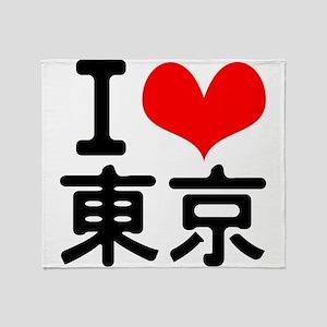 I Love Tokyo Throw Blanket