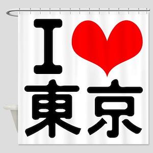 I Love Tokyo Shower Curtain