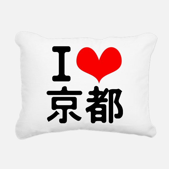 I love Kyoto Rectangular Canvas Pillow