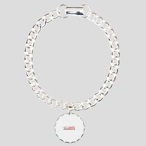 Job Ninja Actuary Charm Bracelet, One Charm