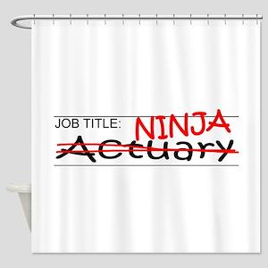 Job Ninja Actuary Shower Curtain