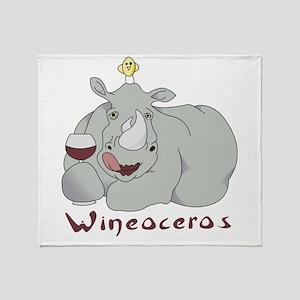 Winoceros Throw Blanket