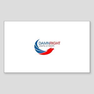 Damn Right Eagle Logo Sticker