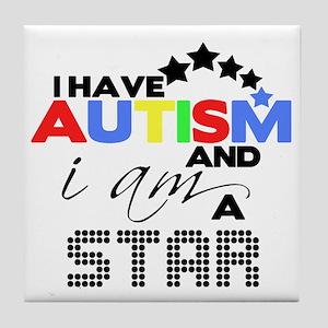 Autistic Star Tile Coaster