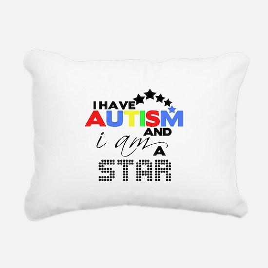 Autistic Star Rectangular Canvas Pillow