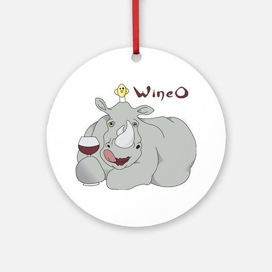 Wine O Ornament (Round)