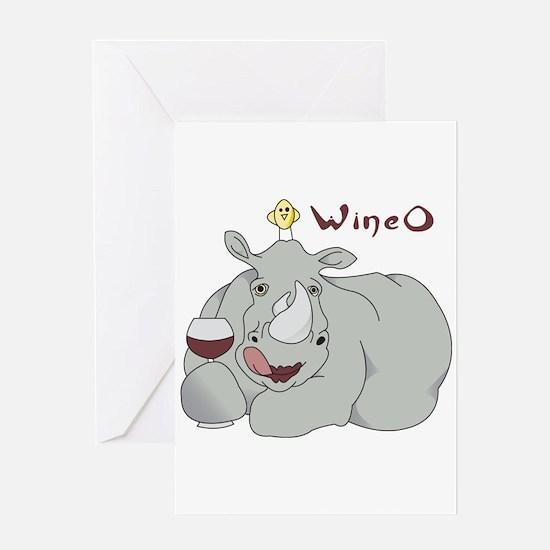 Wine O Greeting Card