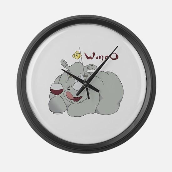 Wine O Large Wall Clock
