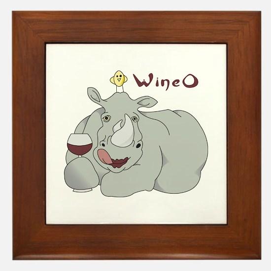 Wine O Framed Tile