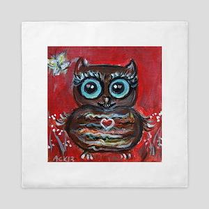 Owl eyes butterfly Queen Duvet