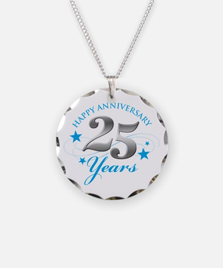 Happy Anniversary 25 years Necklace