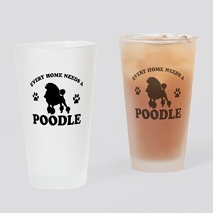Every home needs a Poodle Drinking Glass