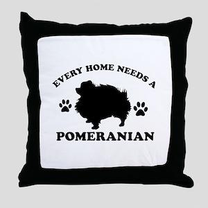 Every home needs a Pomeranian Throw Pillow
