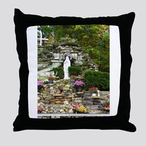 Our Lady of Lourdes Shrine in the Fall Throw Pillo
