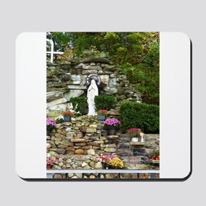 Our Lady of Lourdes Shrine in the Fall Mousepad