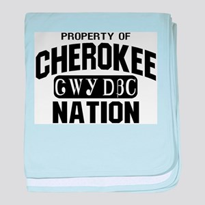 Property of Cherokee Nation baby blanket