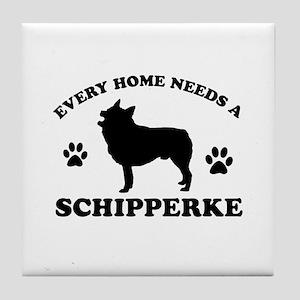 Every home needs a Schipperke Tile Coaster