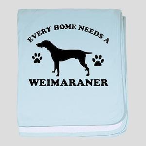 Every home needs a Weimaraner baby blanket