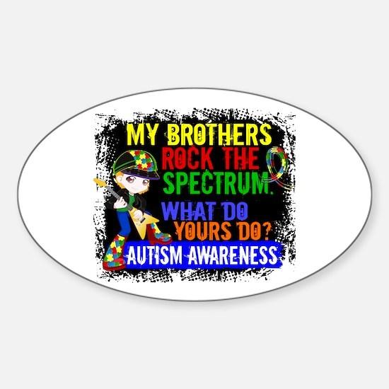 Rocks Spectrum Autism Sticker (Oval)