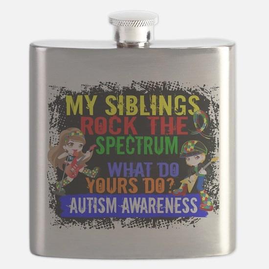 Rock Spectrum Autism Flask